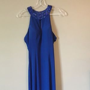 Sherri hill royal blue, long prom dress